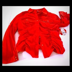 NEVER WORN Red Baby Phat blouse ♥️